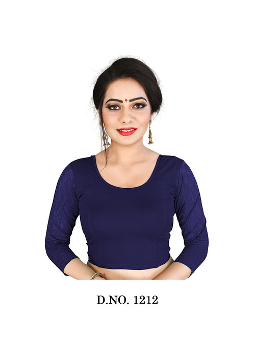 1212 Feminine Ethnic Cotton Lycra Hosiery Blouse Collection