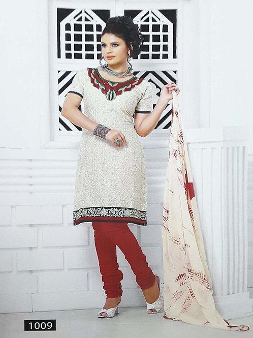 1009 White Designer Printed Salwar Suit