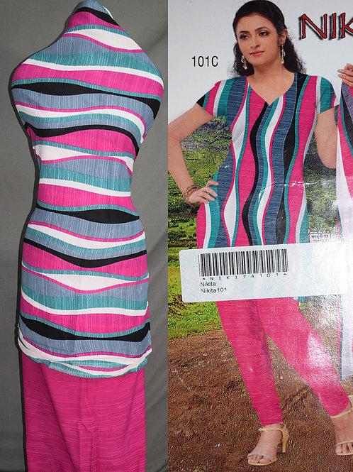 101C Magenta and Multicolor Printed Salwar Suit