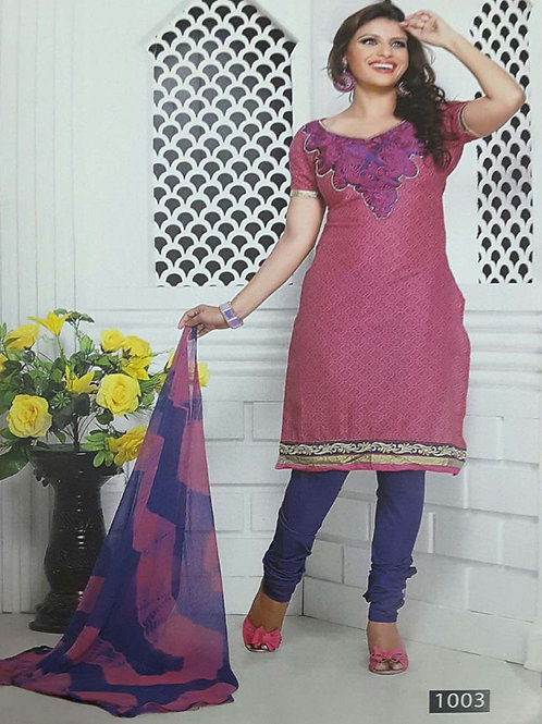 1003 Pink Designer Printed Salwar Suit