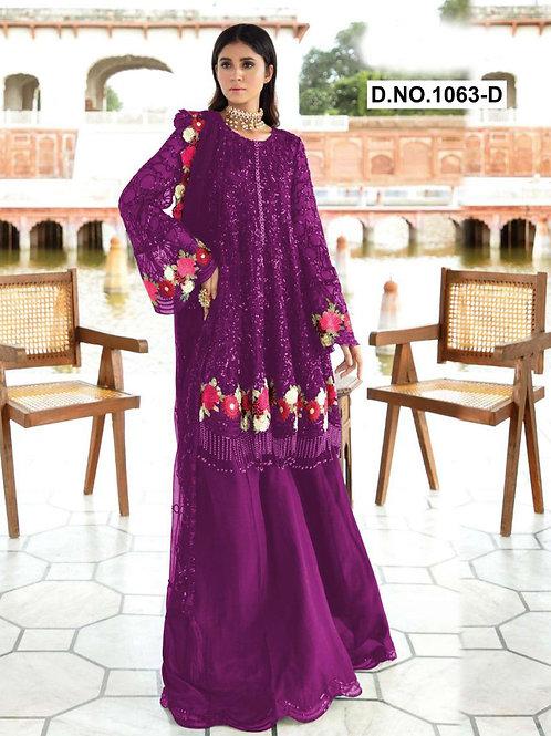 1063D Pakistani Style Designer Suit