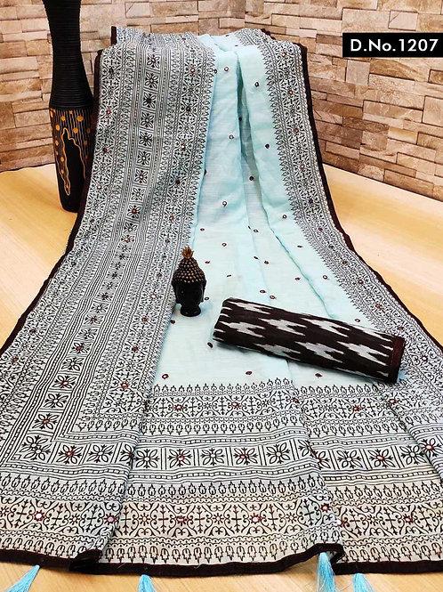 1207 Aaradhya Linen Sarees