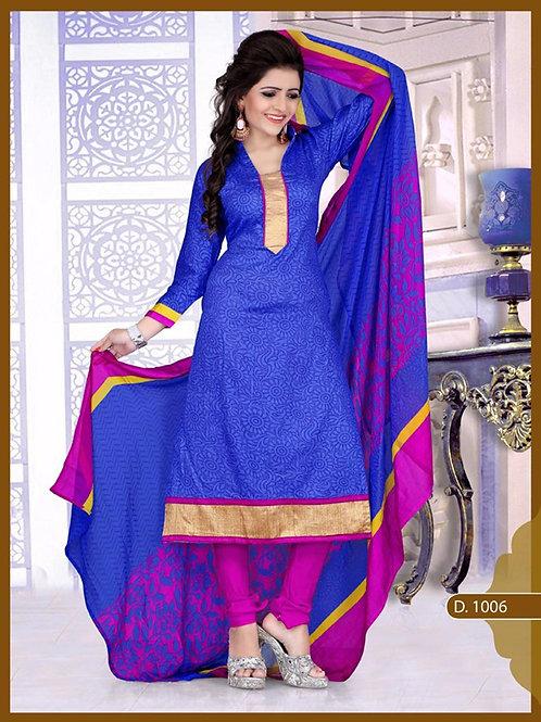 1006 Designer Blue Chudidar Suit