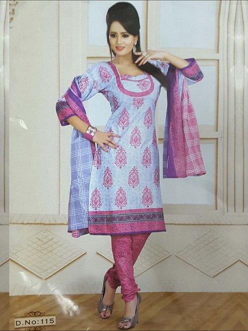 115 Lavender Printed Salwar Suit