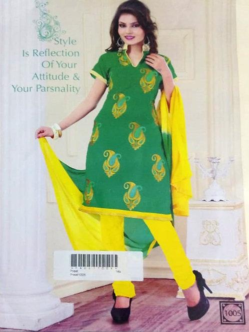 1005 Light Green Designer Daily Wear Salwar Suit