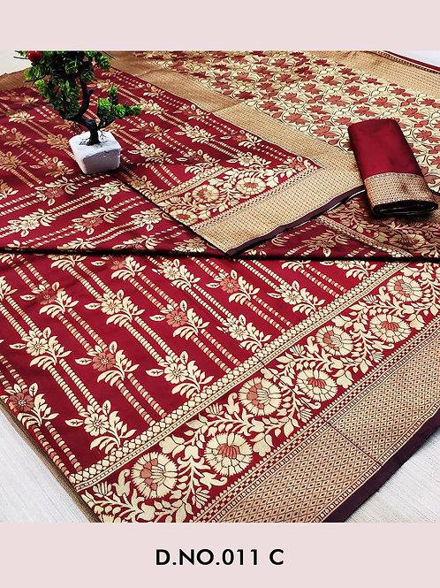 011C Banarasi Cotton Saree