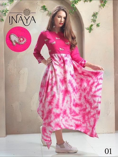 01 Pink Designer Kurti