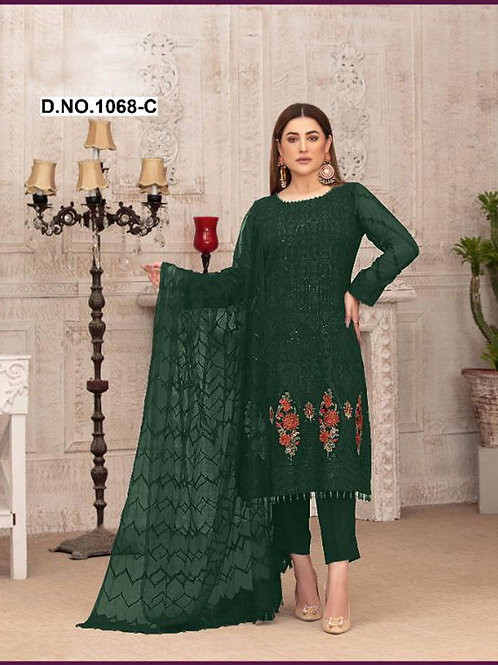 1068C Pakistani Style Designer Suit