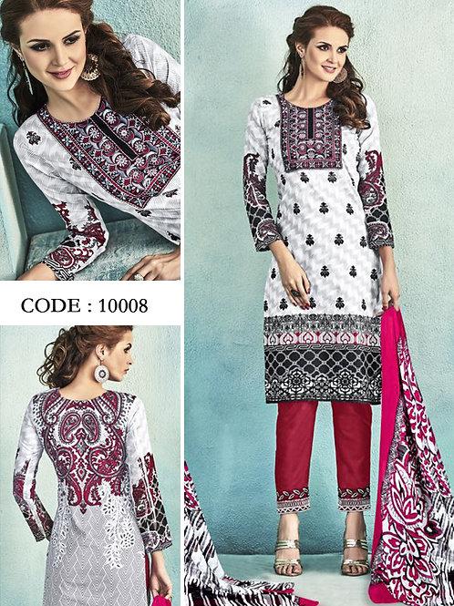 10008White Latest Fancy Salwar Suit