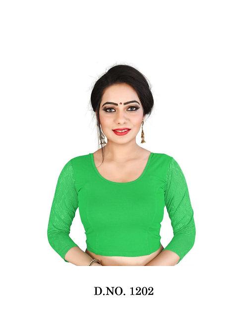 1202 Feminine Ethnic Cotton Lycra Hosiery Blouse Collection