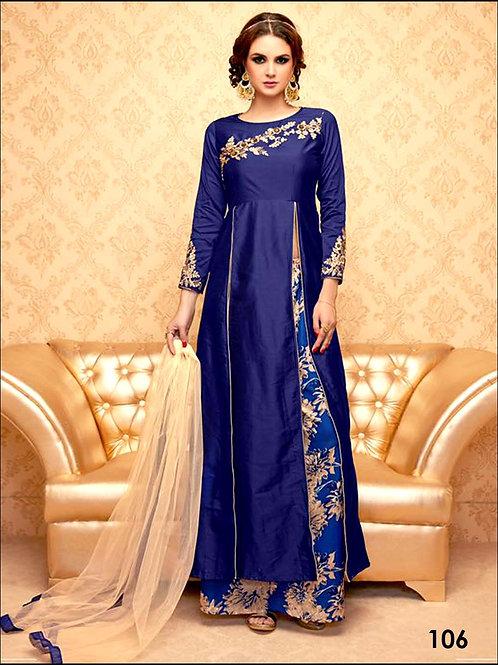 106Navy Blue Exclusive Stitched Designer Suit
