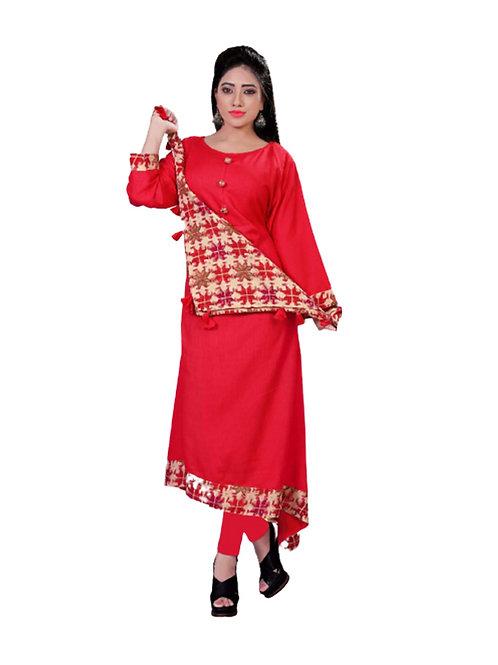 1030 Red Designer Kurtis