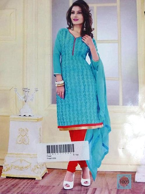 1009 Sky Blue Designer Daily Wear Salwar Suit