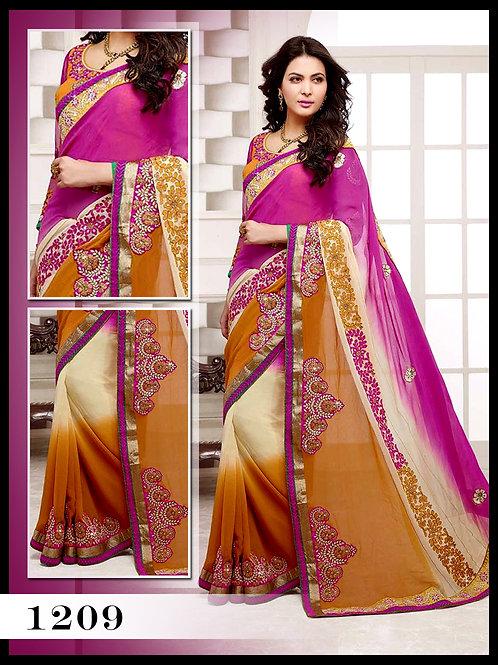 1209Byzantic Pink Designer Saree