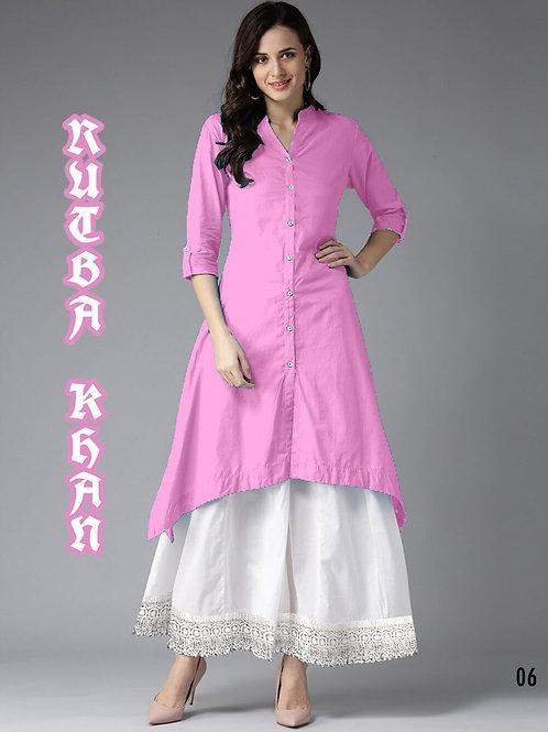 06 Pink Designer Party Wear Plazo With Kurti