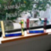 ステンドグラスワークショップ__カップルのお客様、もう一組☺_シックな色合いで写