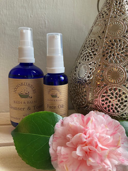 Face Oil and Cleanser