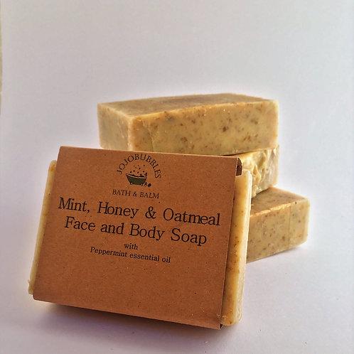 Mint, Honey & Oatmeal Soap