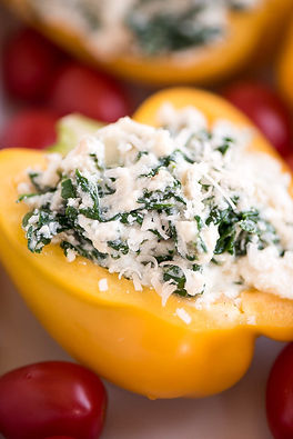 Spinach & Ricotta Stuffed Bell Peppers