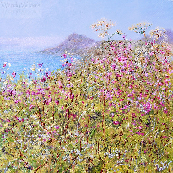 Campion, Cow Parsley and Cape Cornwall print