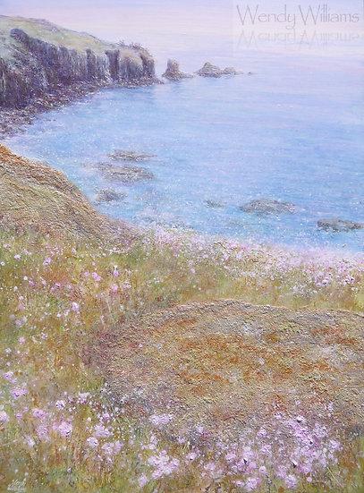 Sea Pinks and Low Tide Stillness print