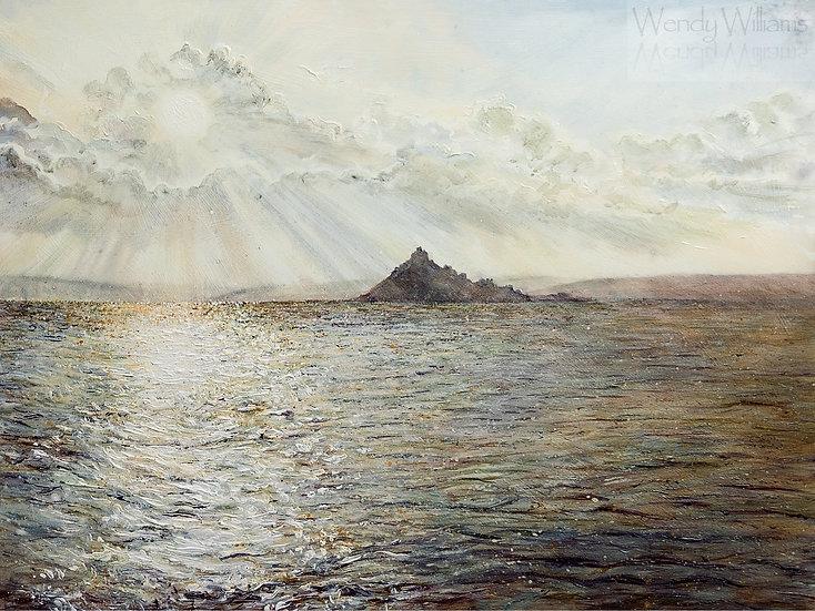 Streaming Sunlight, St.Michaels Mount print