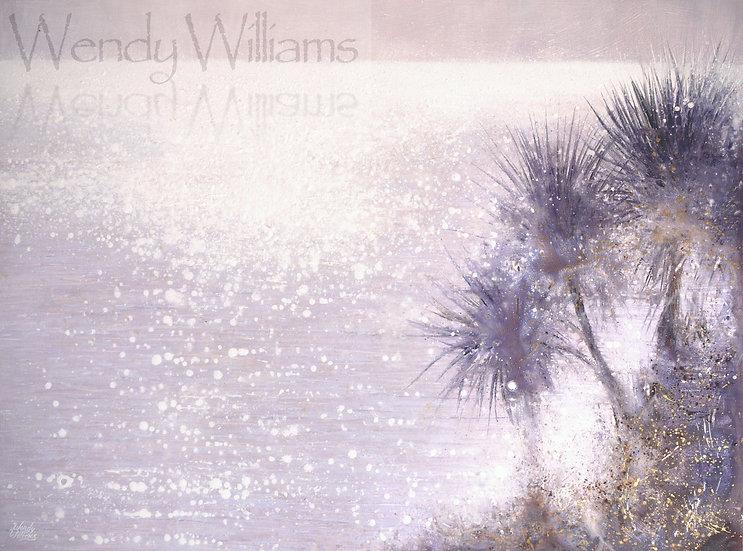Summer Sparkle through the Palms  print
