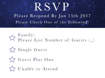 RSVP for the Fischers