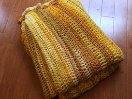 Yellow Sunrise Blanket