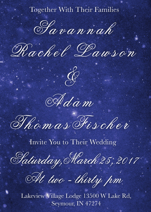 Wedding invites for the Fischers