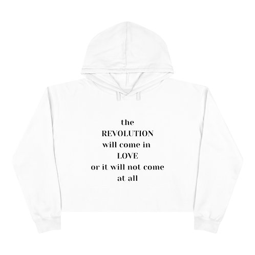 Revolution Crop Hoodie (black text)