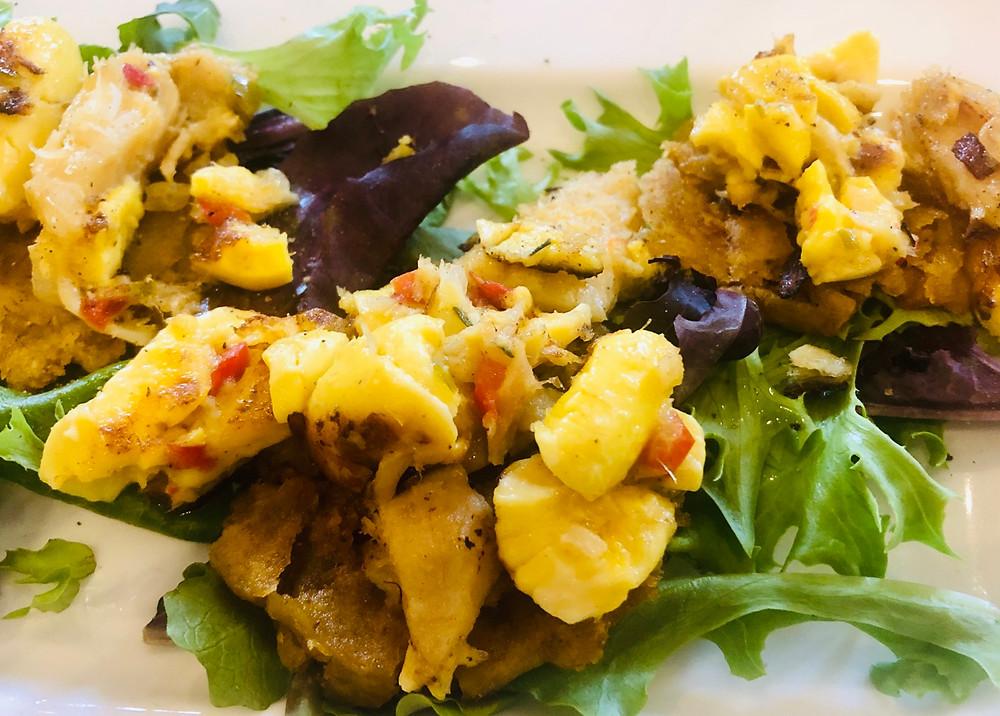 Ackee & Saltfish Tostones