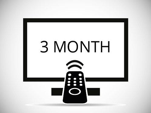 3 months subscription