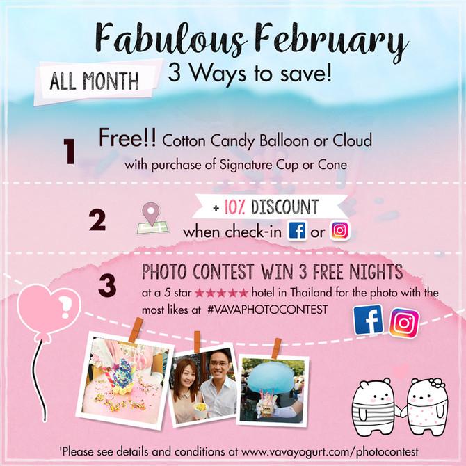 Fabulous February Promotion -- 3 ways to Save