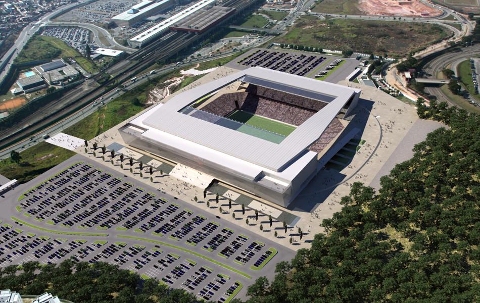 Render of stadium at daytime