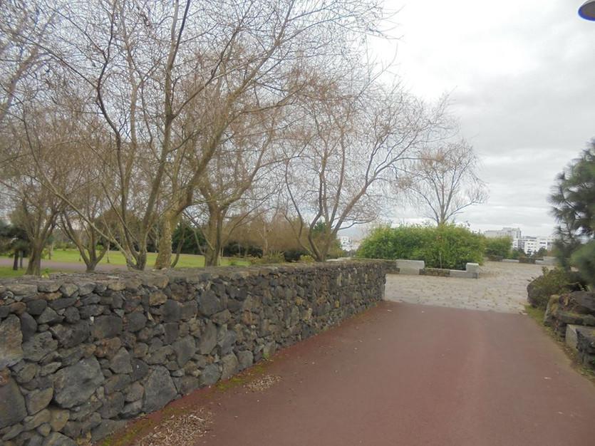 Uma das entradas do parque