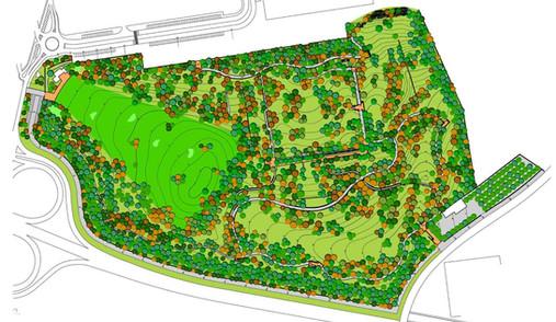 Plan masa del parque