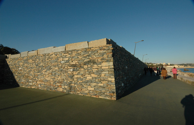 Detail of retaining wall