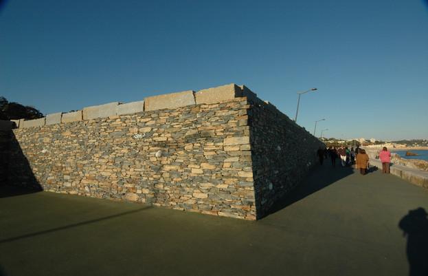Detalhe de muro de contenção