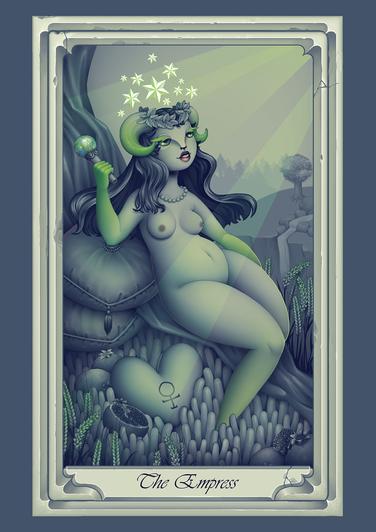 The empress_Digital print_42x29.7cm_2017