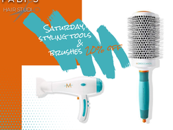 Saturday, styling tools & brushes 20% off