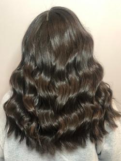 brunette wavy