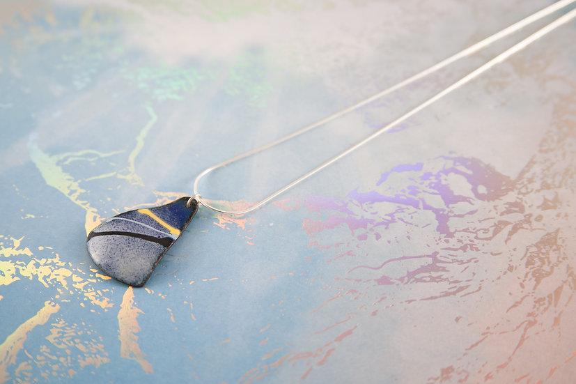 Blue striped pendant