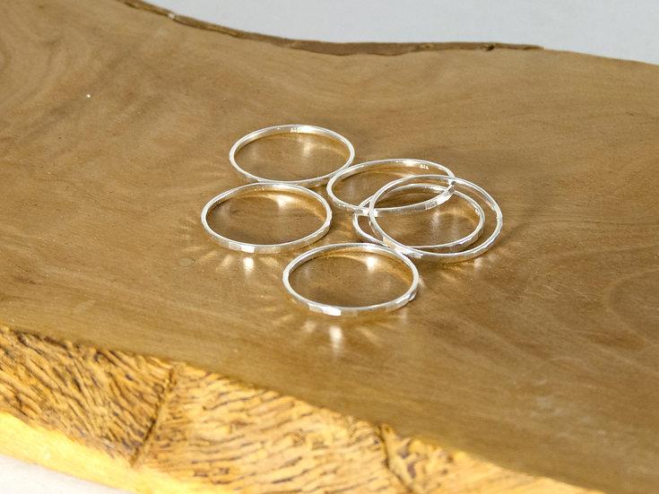 Diamond-Cut Stacking Rings