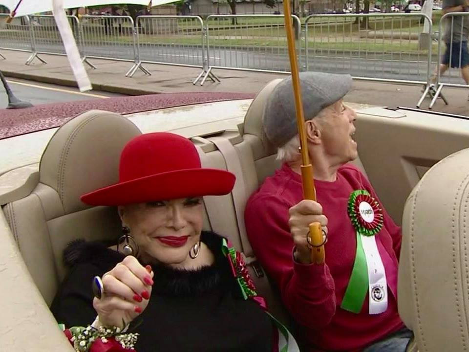 Connie Francis as Grand Marshal, Columbus Day Parade