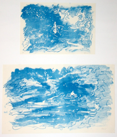 River Drawings, lithograph