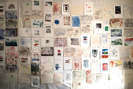 'Book Wall', public participation project - Wigtown Book Festival