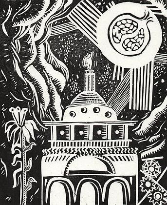 'Genius' Lino cut print 1/6
