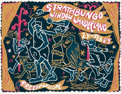 Strathbungo Window Wanderland Postcard