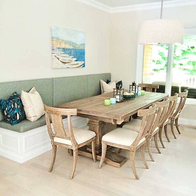 Dining Table with custom built in seating bench